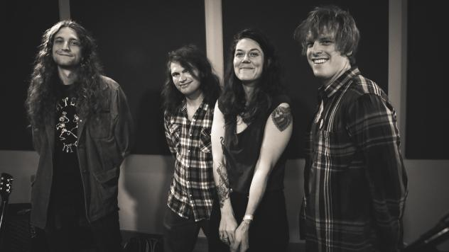 Lilly Hiatt and her band inside the World Cafe Performance Studio