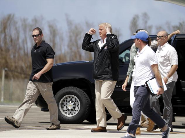 President Trump visits Puerto Rico today