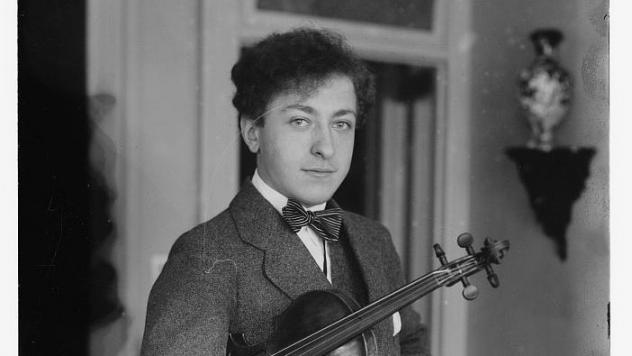 Violinist Jascha Heifetz in 1917, the year he made his American debut at Carnegie Hall.