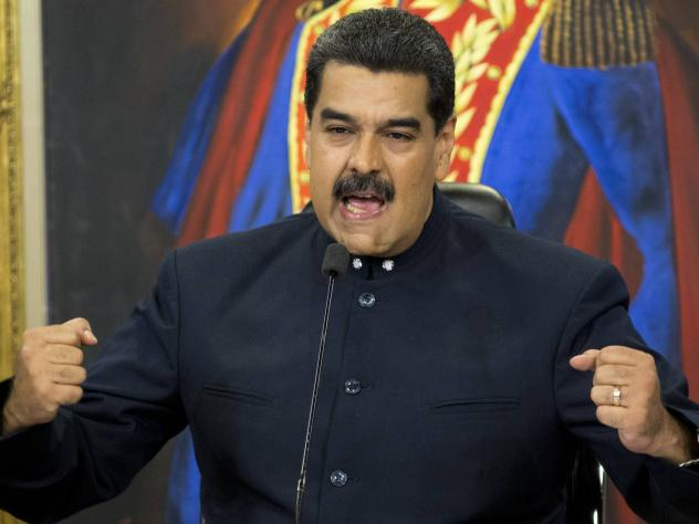 Venezuela's President Nicolas Maduro speaks during a press conference at the presidential palace, in Caracas, Venezuela, in October.