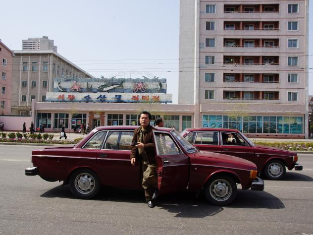 "Scottish tourist Duncan Lang spotted a Volvo 144 during his trip to North Korea in October 2010. ""I heard the car coming before I saw it,"" he tells NPR."