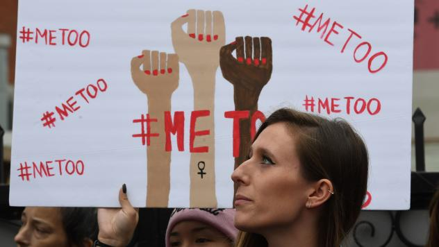 Victims of sexual harassment, sexual assault, sexual abuse and their supporters protest during a #MeToo march this month in Hollywood, Calif.