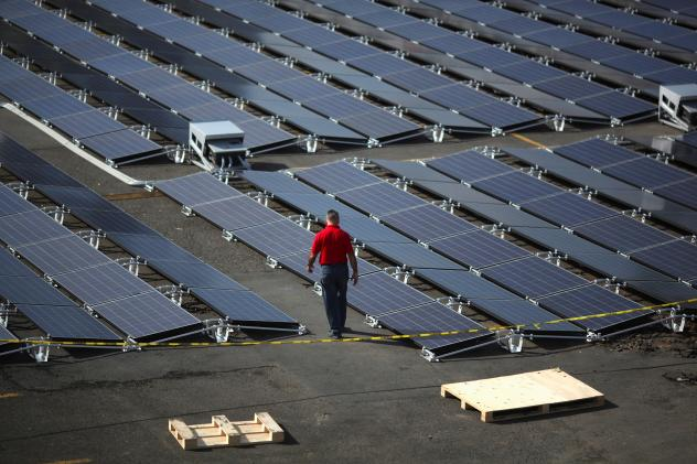 These solar panels were set up by Tesla at the San Juan Children's Hospital after the island was hit by Hurricane Maria.