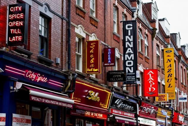 Brick Lane is a street in the London borough of Tower Hamlets. It is famous for its many curry houses.