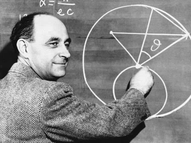 Dr. Enrico Fermi was the leader of the group of scientists who succeeded in initiating the first man-made nuclear chain reaction.