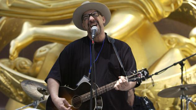 Pat DiNizio, leader of The Smithereens, died on Tuesday. He's seen here singing during the band's 2003 performance at Rockefeller Center in New York City.