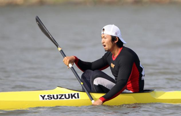 Yasuhiro Suzuki of Japan reacts after competing in the Canoe Sprint Men's Kayak Single 1000m during the Guangzhou Asian Games on Nov. 25, 2010, in Guangzhou, China. Suzuki is now banned for eight years for spiking a fellow Japanese racer's drink with an