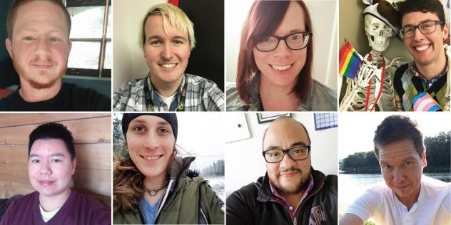 <strong><em></em></strong><em></em>Teachers from across the country shared their experiences. Clockwise from top left: Westley Aliquo, Bailey Coffman, Jennifer Eller, Lewis Maday-Travis, Ei Meeker, Mario Suarez, McKinley Morrison and Sam Long.<strong></s