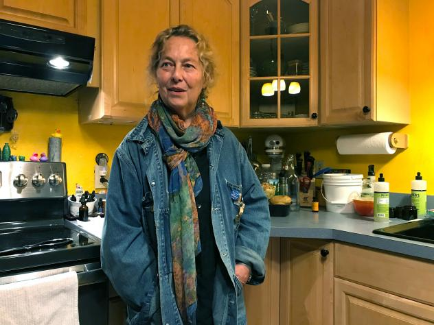 """MaryJane Sarvis, an artist in Shaftsbury, Vt., weaned herself from the opioid painkillers she was prescribed for chronic nerve pain. """"I felt tired all the time and I was still in pain,"""" she says. Marijuana works better for her, but costs $200 per month o"""