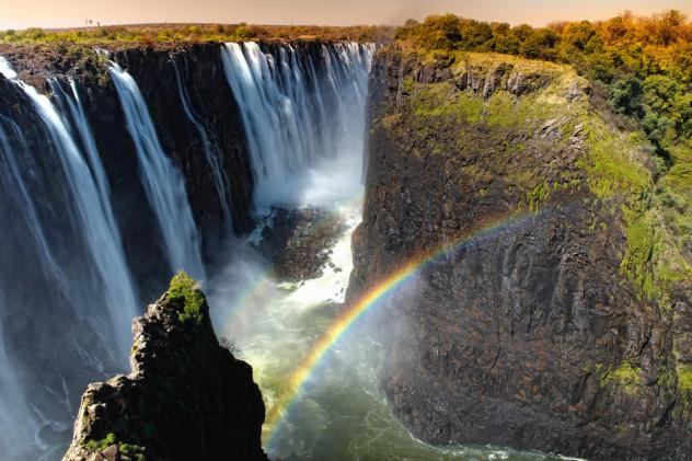 Victoria Falls sits on the border between Zambia and Zimbabwe. Photos of beautiful scenes from Africa and Haiti have been flooding the Internet in response to President Trump's reported slur.