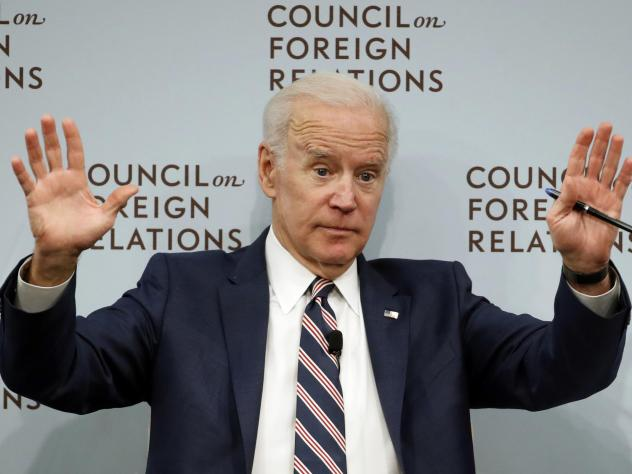 Former Vice President Joe Biden speaks about U.S. relations with the Kremlin at the Council on Foreign Relations on Tuesday.
