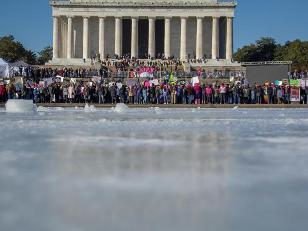 While Trump made history by speaking to the March for Life crowds in Washington, D.C., on Friday, Jan. 19, via video stream, anti-Trump signs were popular at the Women's March in D.C. and across the country the next day.