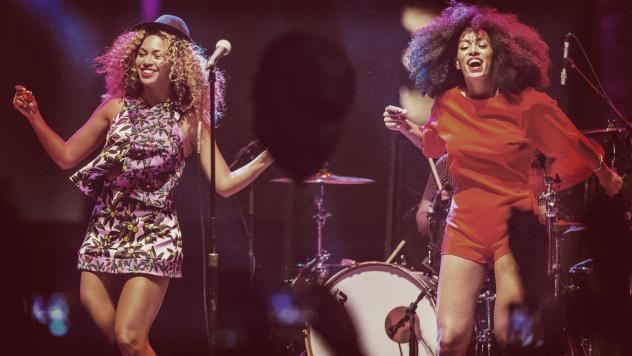 Beyoncé and Solange onstage at Coachella in 2014.
