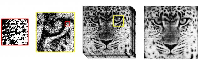 """This is a sample photo taken with the 1-megapixel Quanta Image Sensor. Instead of pixels, QIS chips have what researchers call """"jots."""" Each jot can detect a single particle of light."""