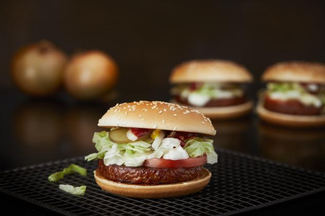"""Our reporter deemed the McVegan """"good."""" She also recruited her kids to taste test it. Their reviews: """"very tolerable,"""" """"OK"""" and """"in the middle."""""""