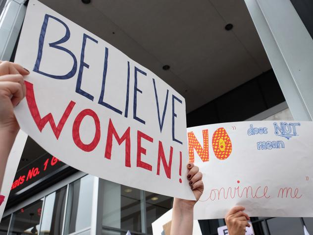 Activists participate in the Take Back The Workplace March and #MeToo Survivors March & Rally on Nov. 12, 2017, in Hollywood, Calif. A new survey offers the first set of nationwide data on prevalence, showing that the problem is pervasive and women are m