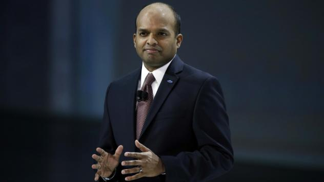 Ford's Raj Nair attends the North American International Auto Show in Detroit in 2014. Nair joins numerous business leaders who have been fired or have resigned in recent months because of inappropriate behavior in the workplace.