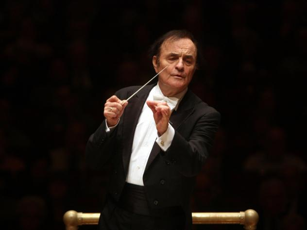 Charles Dutoit, conducting the Philadelphia Orchestra at New York's Carnegie Hall in 2010.