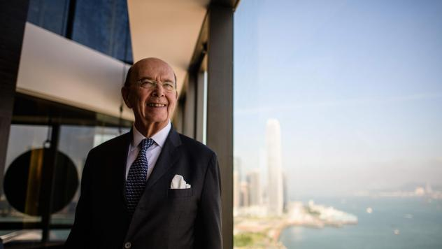 U.S. Commerce Secretary Wilbur Ross poses before a roundtable briefing in Hong Kong in September.