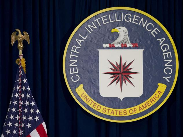 The seal of the Central Intelligence Agency at its headquarters in Langley, Va.