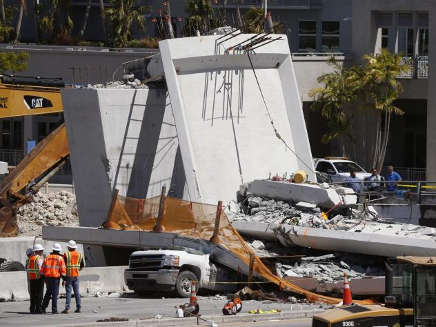 Crews continue to remove vehicles and conduct search-and-rescue efforts from under the concrete bridge that collapsed suddenly in Miami on Thursday afternoon.