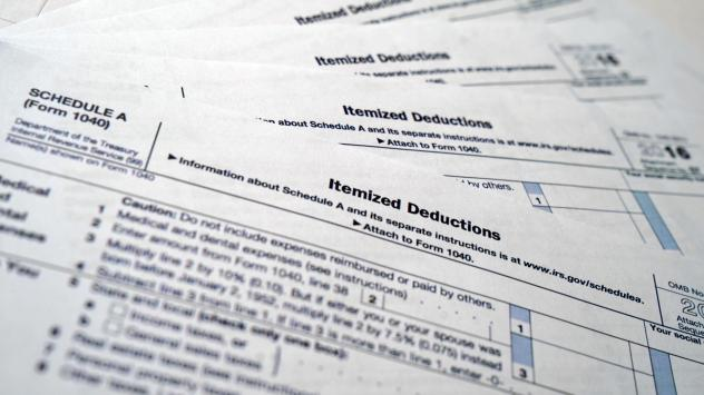 IRS Form 1040, Schedule A, Medical and Dental Expense forms.