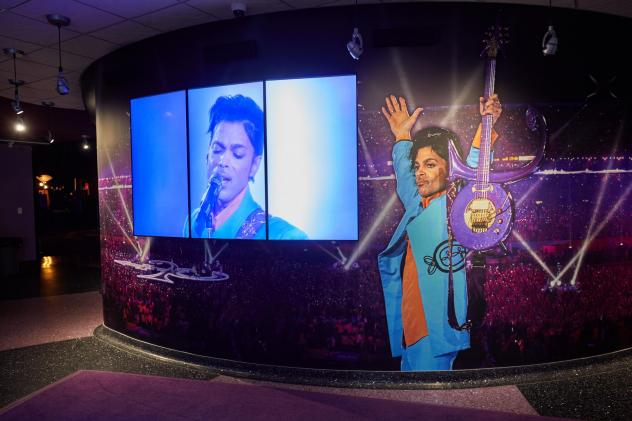 Images of the music superstar at Prince's Paisley Park Museum in Chanhassen, Minn. His death has been ruled accidental by the local medical examiner.