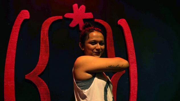 Nandar was one of the organizers — and participants — in the staging of 'The Vagina Monologues.""