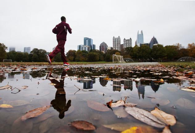 """Austin Gilmore of Atlanta started drinking after losing his wife to cancer. He was uninsured and says he """"didn't even know I was depressed."""" But at first, he didn't know where to turn for help."""