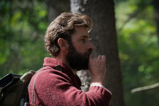 In <em>A Quiet Place, </em>John Krasinski plays Lee Abbott. The movie follows a family that live in a post-apocalyptic world, where super-hearing creatures will kill them in they make a sound.