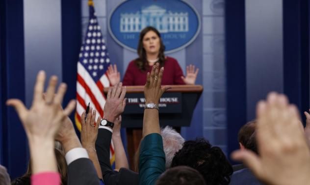 White House press secretary Sarah Sanders said at a briefing on Tuesday that President Trump was frustrated by the special counsel's investigation.