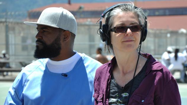 <em>Ear Hustle</em>'s<em> </em>studio at San Quentin is an echoey concrete room, with no phones or Internet access.
