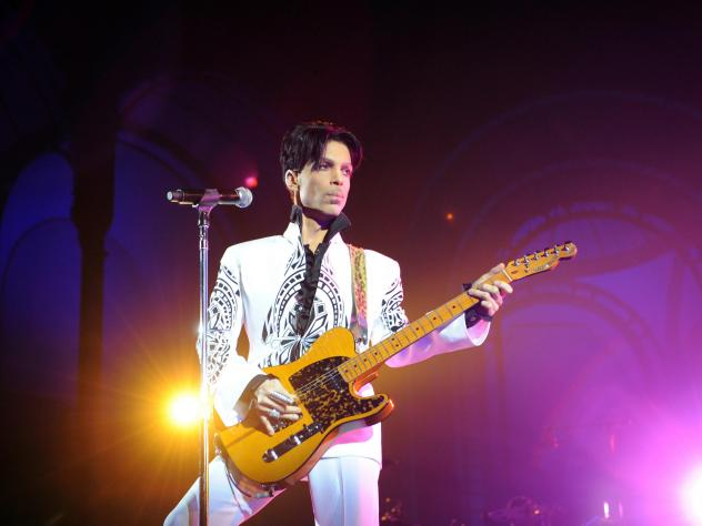 Prince performs in 2009 at the Grand Palais in Paris. He died in 2016.