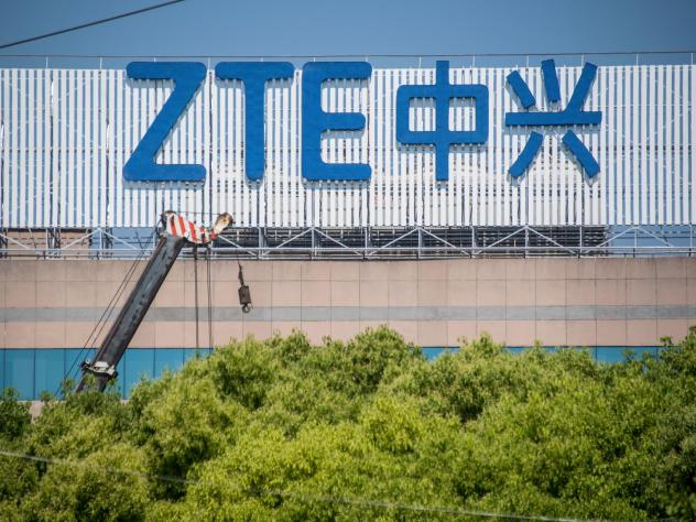 """Chinese telecom giant ZTE said its major operations had """"ceased"""" following last month's US ban on American sales of critical technology to the company,"""