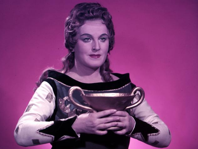 In 1959, soprano Birgit Nilsson wore a custom miner's helmet to a rehearsal at the Metropolitan Opera as a joke to protest the dim lighting in a production.