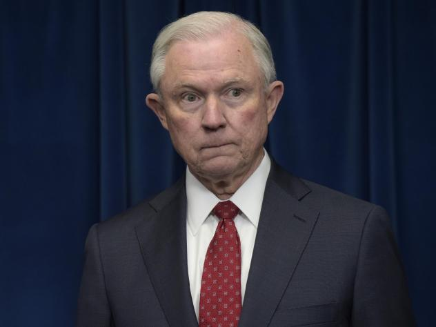 Attorney General Jeff Sessions speaks before the Association of State Criminal Investigative Agencies event in Scottsdale, Ariz., in May 2018.