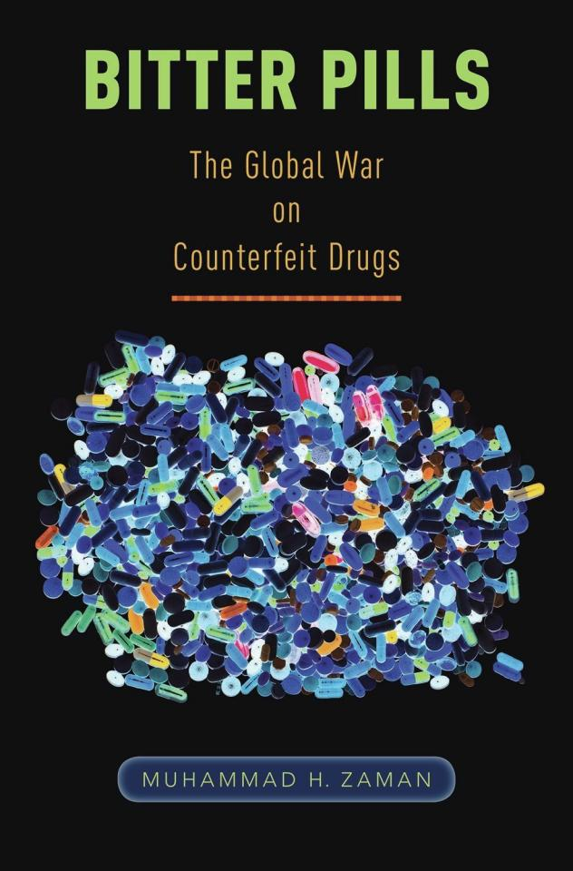 Muhammad Zaman, author of the book <em>Bitter Pills: The Global War on Counterfeit Drugs,</em> in his lab at Boston University.