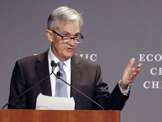 Federal Reserve Chairman Jerome Powell speaks before the Economic Club of Chicago on April 6. The central bank raised a key short-term rate by a quarter-point on Wednesday, the second increase this year.