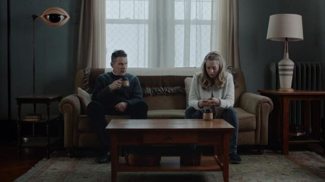 Ethan Hawke stars as as a troubled minister who counsels a parishioner (Amanda Seyfried) in <em>First Reformed</em>.