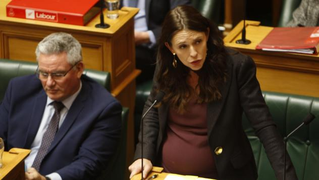 Prime Minister Jacinda Ardern addresses Parliament in May in Wellington, New Zealand.