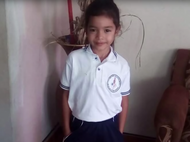 A screenshot from a video produced by ProPublica about 6-year-old Alison Jimena Valencia Madrid who had just crossed into the U.S. before she was detained and separated from her mother. An audio recording of Alison pleading for someone to call her aunt s
