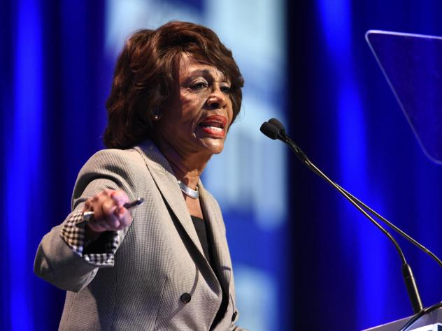 """Rep. Maxine Waters, D-Calif., speaks at the 2018 California Democrats State Convention Saturday, Feb. 24, 2018, in San Diego. """"If you think we're rallying now you ain't seen nothing yet,"""" Waters said over the weekend."""