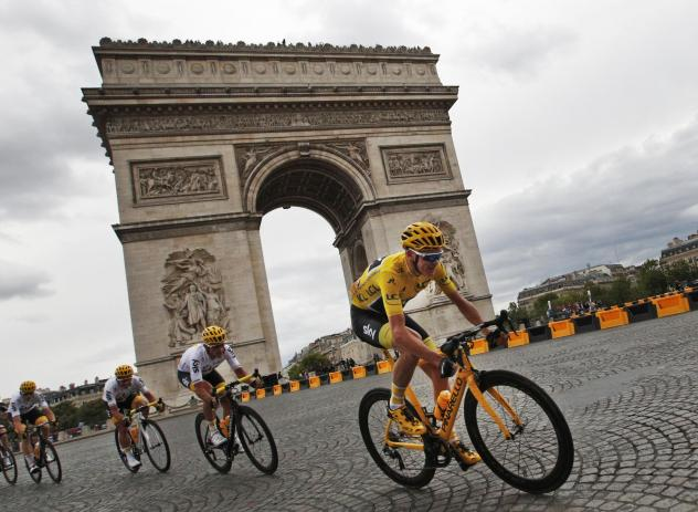 Chris Froome, shown here at 2017's Tour de France, has been cleared of doping by cycling's governing body.