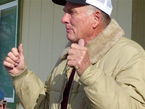 The imprisonment of Dwight Hammond Jr. (shown in 2016) and his son Steven Hammond inspired the Malheur National Wildlife Refuge occupation. President Trump pardoned both men on Tuesday.