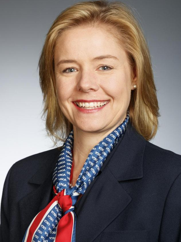 Sarah Hirshland, seen here during a U.S. Golf Association event, has been named as the new CEO of the U.S. Olympic Committee.