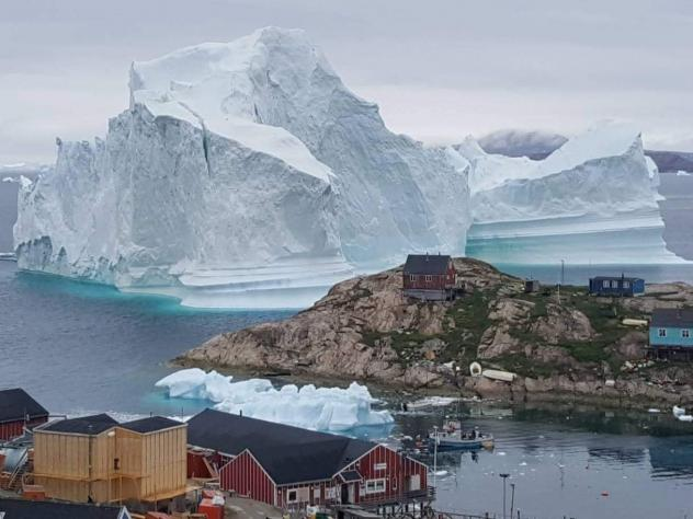 Scientists say, the iceberg is unstable, and could be a threat to the village nearby.