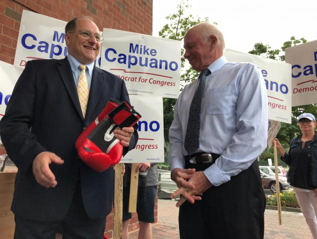 Rep. Mike Capuano struggles to understand why some voters think race and gender are relevant in this race. When Capuano campaigns, he doesn't talk much about his opponent, focusing on his own record.