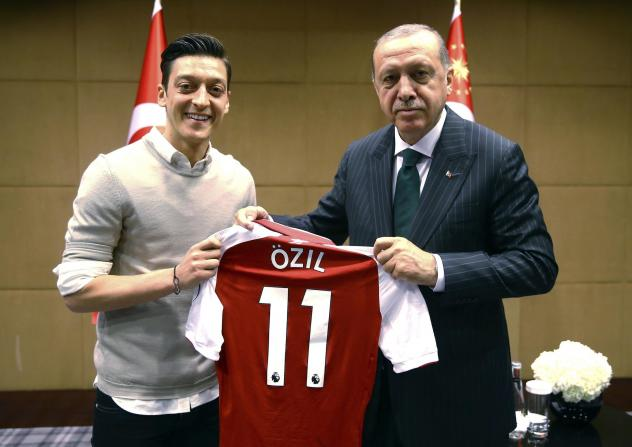 Mesut Ozil faced criticism after posing for a photo in May with Turkish President Recep Tayyip Erdogan.