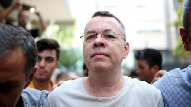 """American pastor Andrew Brunson is being held in Turkey on accusations of terror and espionage.In a tweet, President Trump called Brunson """"a great Christian, family man and wonderful human being."""""""