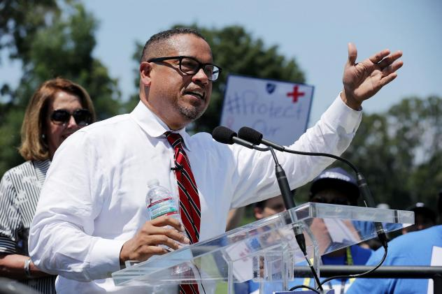 Democratic National Committee Deputy Chairman Rep. Keith Ellison , D-Minn.,  has been accused of domestic abuse by a former girlfriend, allegations that Ellison denies.